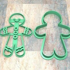 CyS_D_Hombre de Gengibre_003.jpg Download STL file COOKIE STAMP/CUTTER. COOKIE STAMP/CUTTER FONDAN DOUGH. GINGERBREAD MAN_002 • 3D printing model, Centenario3D