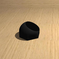 Pot hexagonal V2 - sur table.jpg Télécharger fichier STL Pot / Vase mural hexagonal / Sphérique - V2 • Plan imprimable en 3D, Dhemonaq