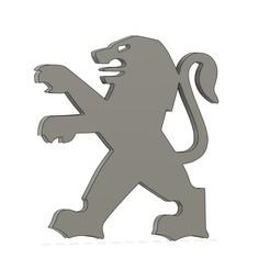 Imprimir en 3D gratis Peugeot Logo, Bzone