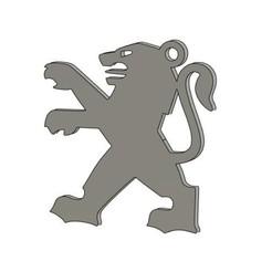 Descargar archivos 3D gratis Llavero Peugeot Logo Key Chain, Bzone