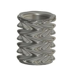 Descargar Modelos 3D para imprimir gratis Porta lapiceros - Jarrón / Pencil Holder - Abstract Vase, Bzone