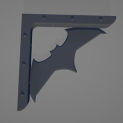 1.jpg Download free STL file Batman Squad - Batarang bracket • 3D print template, Bzone