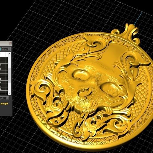 Screenshot_9.jpg Télécharger fichier STL gratuit Pendentif crâne Médaillon de bijouterie Modèle d'impression 3D • Plan pour impression 3D, Cadagency