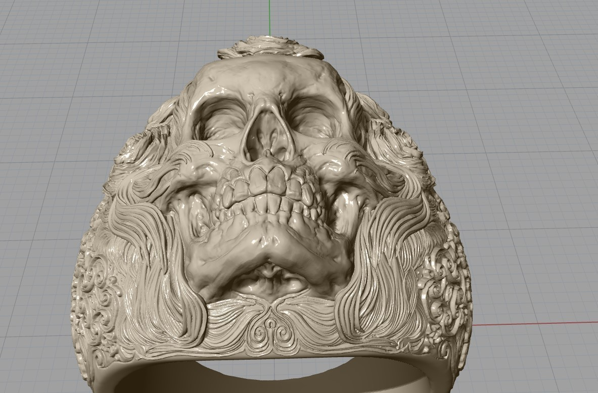 Screenshot_21.jpg Download free STL file Skull ring jewelry skeleton ring 3D print model • 3D print object, Cadagency