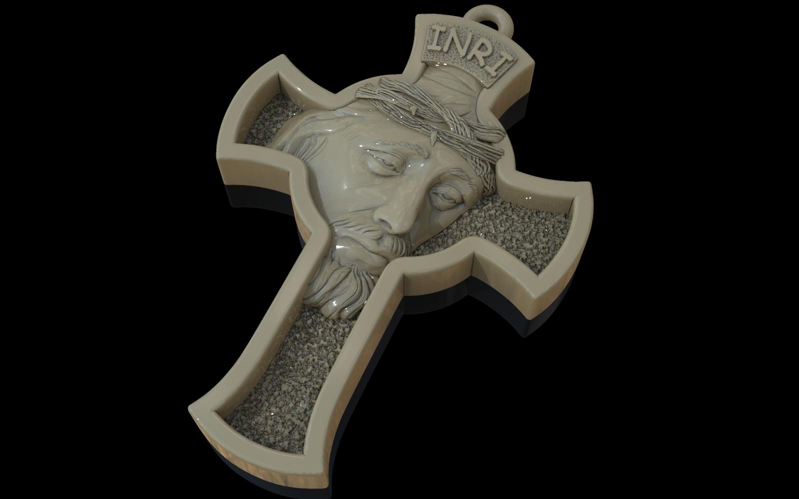 2.jpg Download free STL file Jesus Cross pendant medallion jewelry 3D print model • 3D printable object, Cadagency
