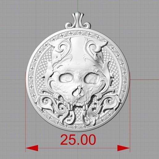 Screenshot_2.jpg Télécharger fichier STL gratuit Pendentif crâne Médaillon de bijouterie Modèle d'impression 3D • Plan pour impression 3D, Cadagency