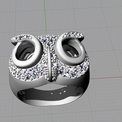 Screenshot_5.jpg Télécharger fichier STL gratuit Bague hibou bague bijou avec pierres Modèle d'impression 3D • Plan pour impression 3D, Cadagency