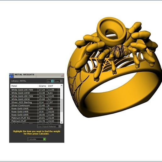Download Free 3d Print Files Spider Ring Jewelry Ring 3d Print Model Cults