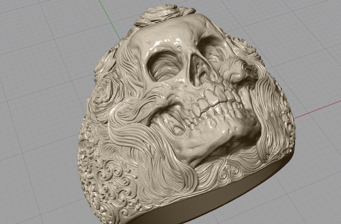 Screenshot_4.jpg Download free STL file Skull ring jewelry skeleton ring 3D print model • 3D print object, Cadagency