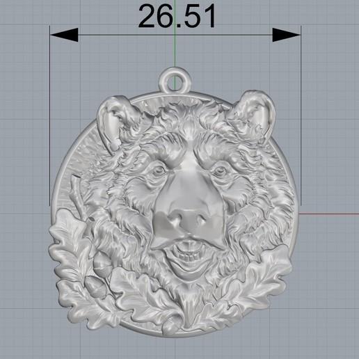 Screenshot_1.jpg Télécharger fichier STL gratuit Pendentif tête d'ours médaillon bijouterie modèle d'impression 3D • Modèle pour impression 3D, Cadagency