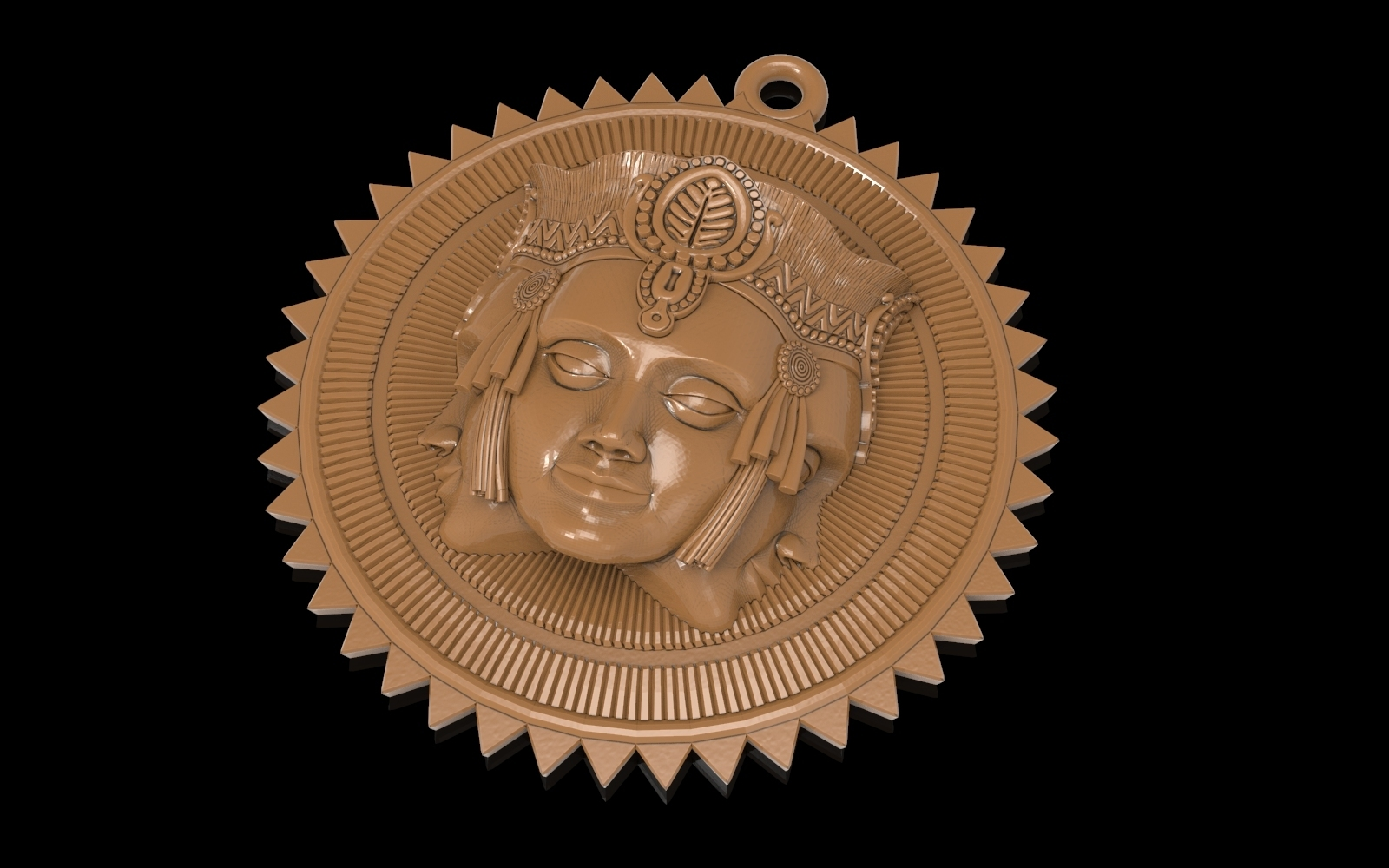 2.jpg Download free STL file Brahma pendant jewelry medallion • 3D printable design, Cadagency