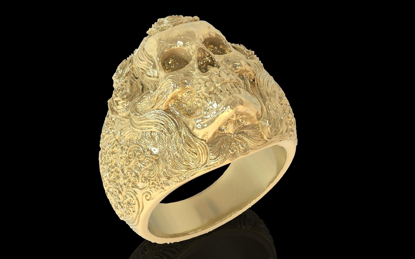 3.jpg Download free STL file Skull ring jewelry skeleton ring 3D print model • 3D print object, Cadagency