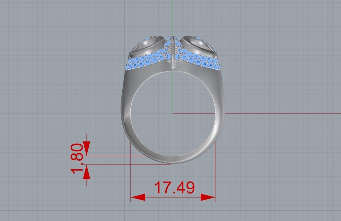 Screenshot_3.jpg Télécharger fichier STL gratuit Bague hibou bague bijou avec pierres Modèle d'impression 3D • Plan pour impression 3D, Cadagency