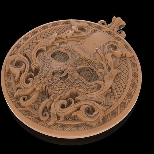 1.jpg Télécharger fichier STL gratuit Pendentif crâne Médaillon de bijouterie Modèle d'impression 3D • Plan pour impression 3D, Cadagency