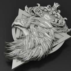 Download free STL file eagle pendant Jewelry medallion 3D print model • 3D print model, Cadagency