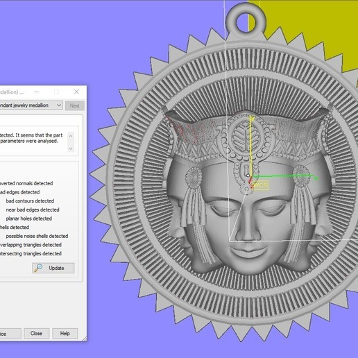 Screenshot_1.jpg Download free STL file Brahma pendant jewelry medallion • 3D printable design, Cadagency