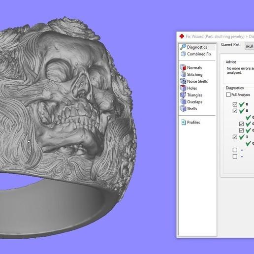 Screenshot_1.jpg Download free STL file Skull ring jewelry skeleton ring 3D print model • 3D print object, Cadagency