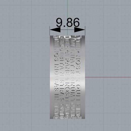 Screenshot_3.jpg Télécharger fichier STL gratuit Christen Pater Noster Our Fathers Bague de prière Modèle d'impression 3D • Plan à imprimer en 3D, Cadagency