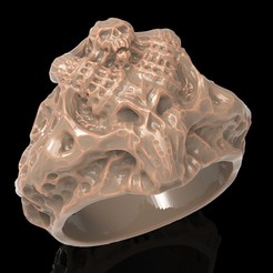 Download free 3D printing files Skull ring ring jewelry 3D print model, Cadagency