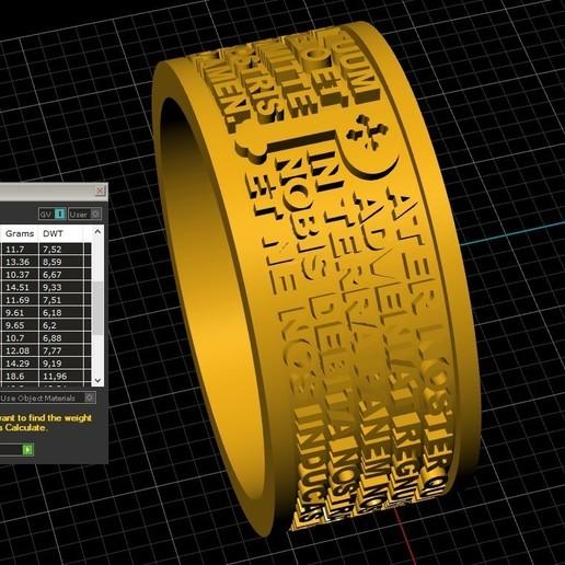 Screenshot_7.jpg Télécharger fichier STL gratuit Christen Pater Noster Our Fathers Bague de prière Modèle d'impression 3D • Plan à imprimer en 3D, Cadagency