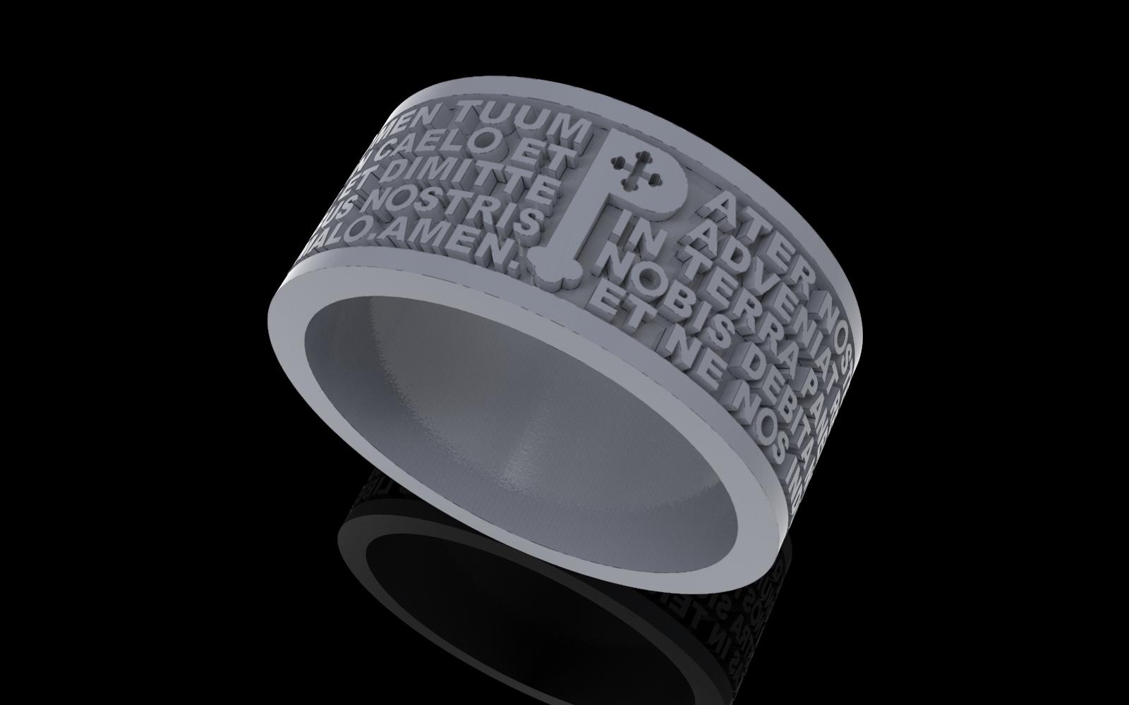1.jpg Télécharger fichier STL gratuit Christen Pater Noster Our Fathers Bague de prière Modèle d'impression 3D • Plan à imprimer en 3D, Cadagency