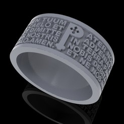 Download free 3D printing templates Christen Pater Noster Our Fathers Prayer ring 3D print model, Cadagency