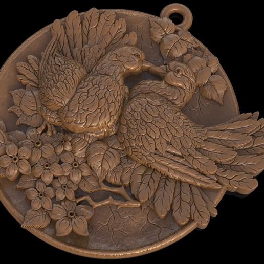 3.jpg Download free OBJ file Doves pendant medallion jewelry 3D print model • 3D print object, Cadagency