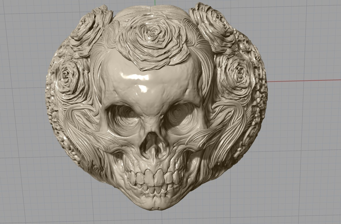 Screenshot_22.jpg Download free STL file Skull ring jewelry skeleton ring 3D print model • 3D print object, Cadagency