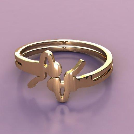 rend 1.jpg Télécharger fichier OBJ gratuit airy-ring man & woman love kiss • Design imprimable en 3D, Cadagency