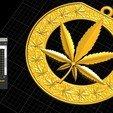 Download free STL file Cannabis Leaf Symbol Marijuana pendant medallion jewerly 3D print model, Cadagency