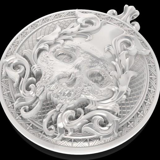 4.jpg Télécharger fichier STL gratuit Pendentif crâne Médaillon de bijouterie Modèle d'impression 3D • Plan pour impression 3D, Cadagency