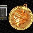 Télécharger STL gratuit Pendentif en forme de coeur avec un médaillon en croix Bijoux Modèle d'impression 3D, Cadagency