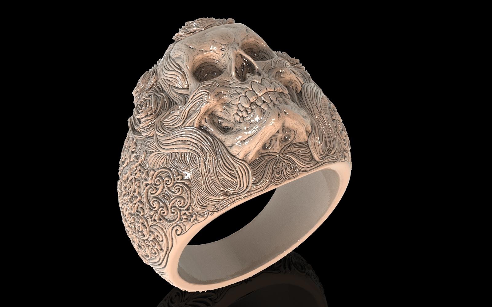 1.jpg Download free STL file Skull ring jewelry skeleton ring 3D print model • 3D print object, Cadagency