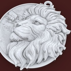 Download free STL file Lion and Helm pendant medallion jewelry 3D print model • 3D print design, Cadagency