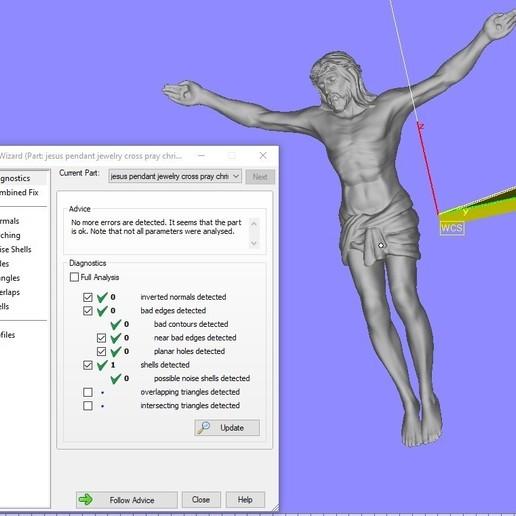 3.jpg Télécharger fichier STL gratuit Pendentif Jésus bijou croix prier chrétien modèle d'impression 3D • Objet imprimable en 3D, Cadagency