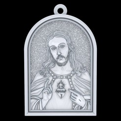 Download free 3D printer model Jesus pendant jewelry cross pray christian 3D print model, Cadagency