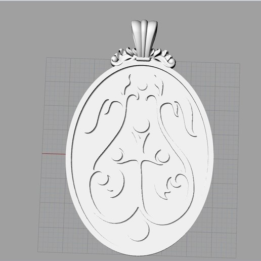 Screenshot_7.jpg Download free OBJ file Mother mery and jesus pendant medalion jewelry • 3D printable object, Cadagency