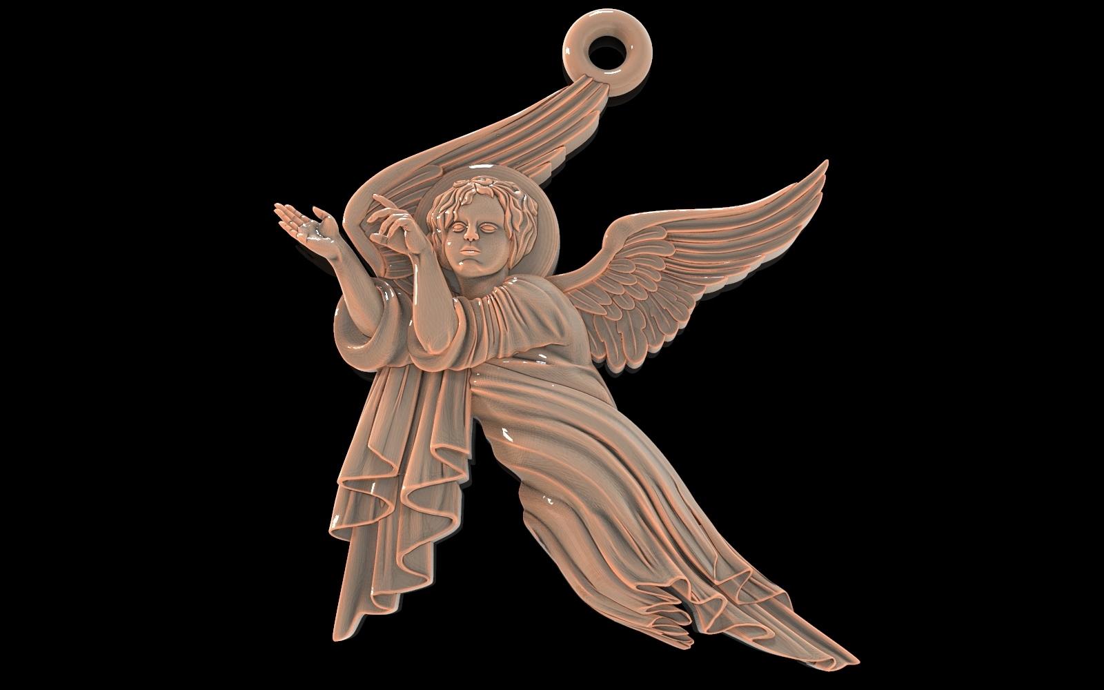 untitled.127.jpg Download free OBJ file Baby angel pendant  jewelry • 3D print design, Cadagency