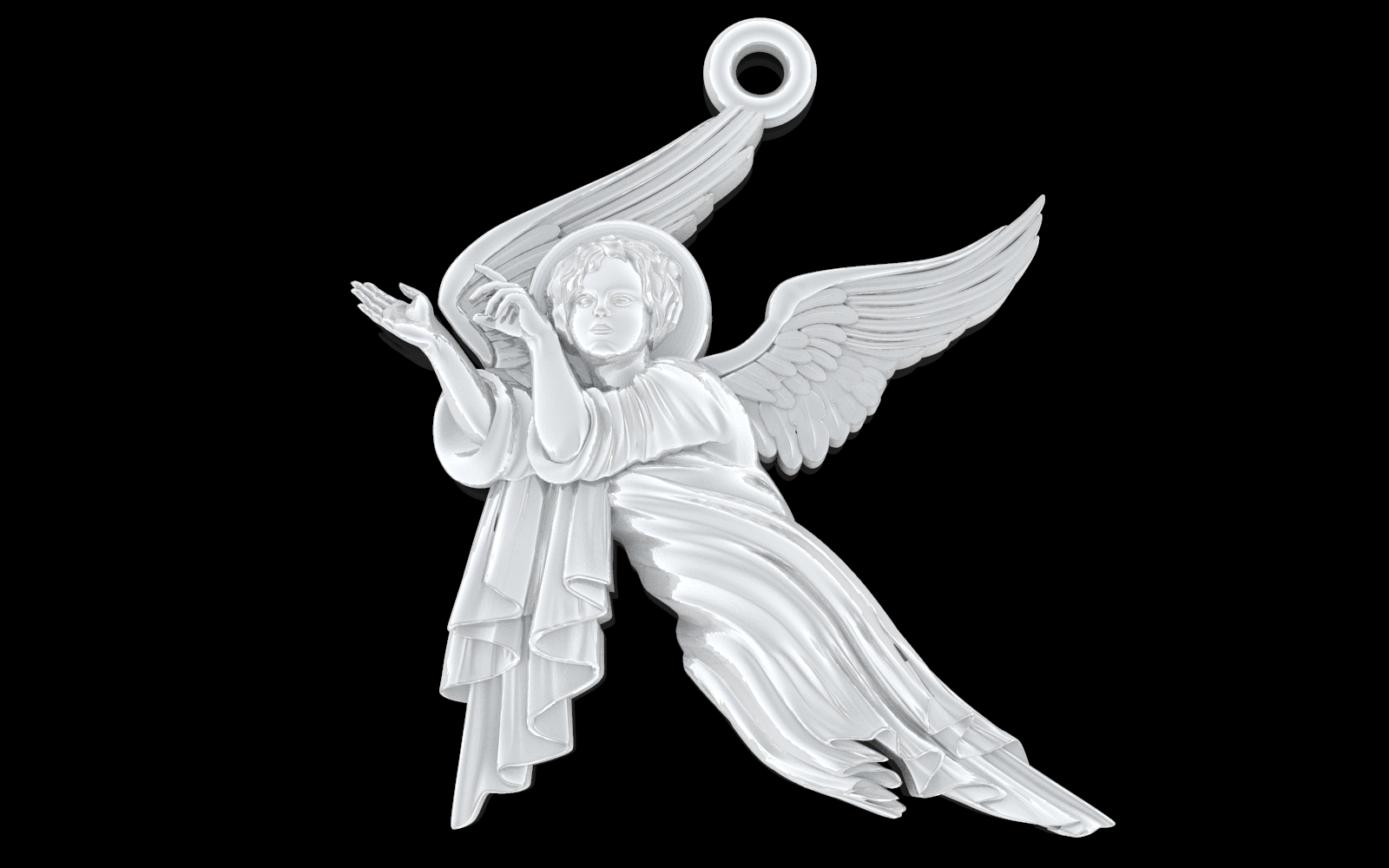 untitled.125.jpg Download free OBJ file Baby angel pendant  jewelry • 3D print design, Cadagency
