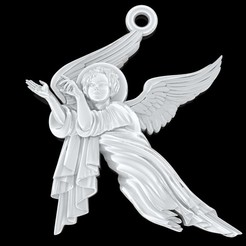 Download free 3D printer templates Baby angel pendant  jewelry, Cadagency