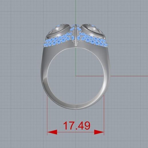 Screenshot_2.jpg Télécharger fichier STL gratuit Bague hibou bague bijou avec pierres Modèle d'impression 3D • Plan pour impression 3D, Cadagency