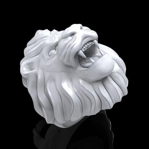 untitled.50.jpg Télécharger fichier STL gratuit Bague de lion Bijoux d'homme • Modèle pour imprimante 3D, Cadagency