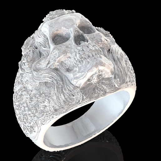 4.jpg Download free STL file Skull ring jewelry skeleton ring 3D print model • 3D print object, Cadagency