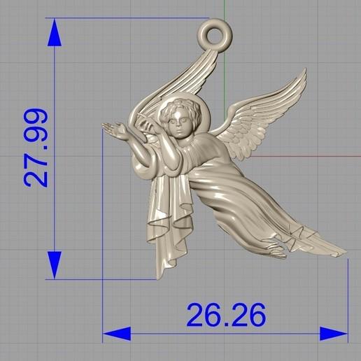 Screenshot_12.jpg Download free OBJ file Baby angel pendant  jewelry • 3D print design, Cadagency