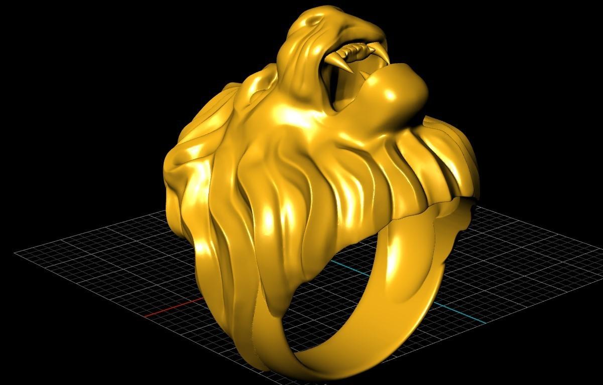 Screenshot_12.jpg Télécharger fichier STL gratuit Bague de lion Bijoux d'homme • Modèle pour imprimante 3D, Cadagency