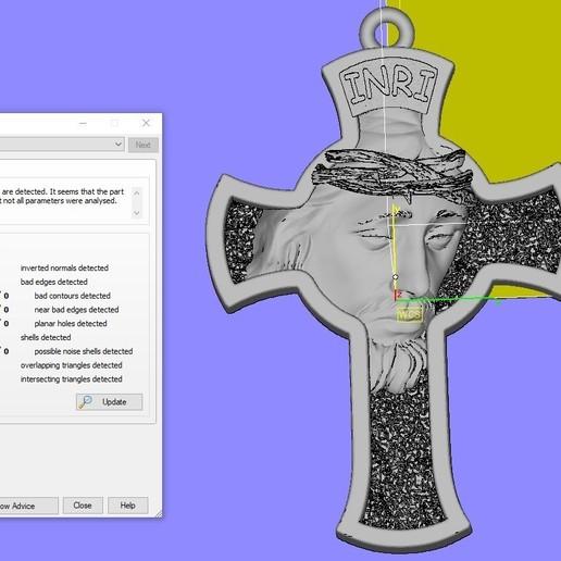 Screenshot_1.jpg Download free STL file Jesus Cross pendant medallion jewelry 3D print model • 3D printable object, Cadagency