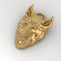Download free 3D printing templates Wolf pendant Jewelry medallion 3D print model, Cadagency
