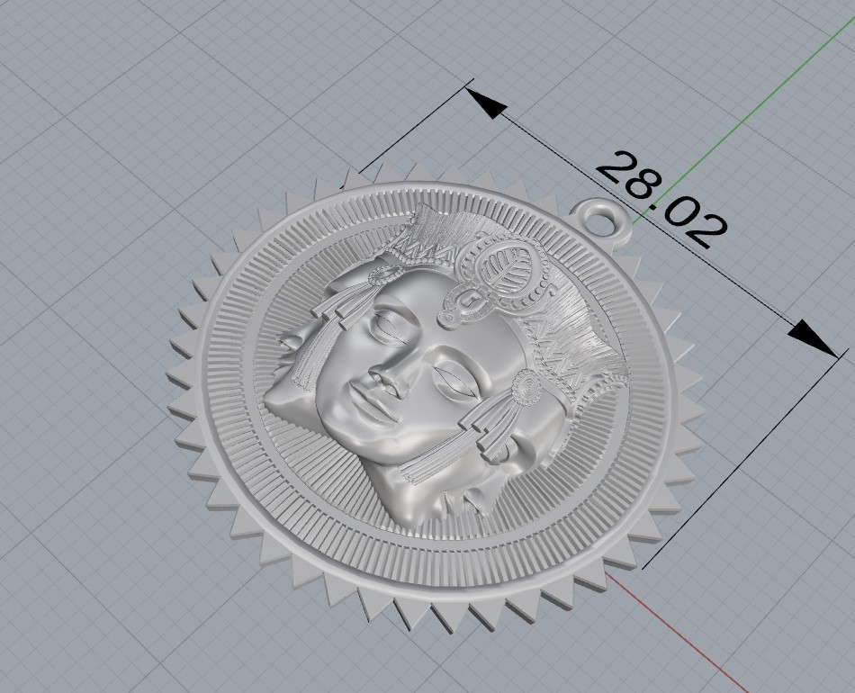 Screenshot_5.jpg Download free STL file Brahma pendant jewelry medallion • 3D printable design, Cadagency