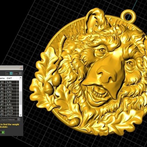 Screenshot_3.jpg Télécharger fichier STL gratuit Pendentif tête d'ours médaillon bijouterie modèle d'impression 3D • Modèle pour impression 3D, Cadagency
