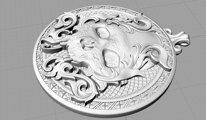 Screenshot_5.jpg Télécharger fichier STL gratuit Pendentif crâne Médaillon de bijouterie Modèle d'impression 3D • Plan pour impression 3D, Cadagency